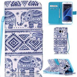 Plånboksfodral Samsung Galaxy S7 Edge – Indiskt / Elefanter