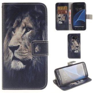 Plånboksfodral Samsung Galaxy S7 Edge – Lejon