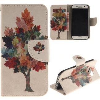 Plånboksfodral Samsung Galaxy S7 – Färgglatt Träd