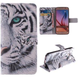 Plånboksfodral Samsung Galaxy S6 – Vit Tiger