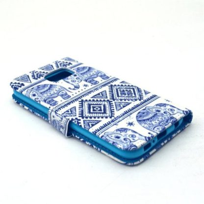 Plånboksfodral Samsung Galaxy S6 – Indiskt / Elefanter