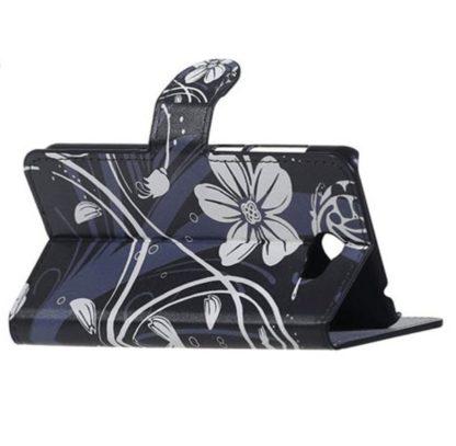 Plånboksfodral Huawei Y6 II Compact – Svart med Blommor