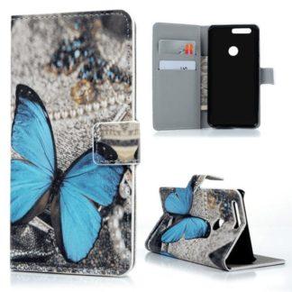 Plånboksfodral Huawei Honor 8 – Blå Fjäril