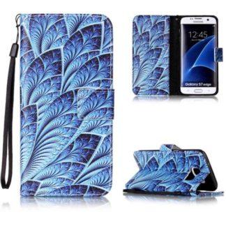 Plånboksfodral Samsung Galaxy S7 Edge – Blå Blomma