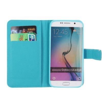 Plånboksfodral Samsung Galaxy S6 Edge – Indiskt / Elefanter