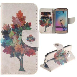 Plånboksfodral Samsung Galaxy S6 Edge – Träd
