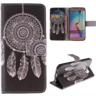 Plånboksfodral Samsung Galaxy S6 Edge – Drömfångare Svart