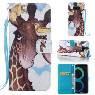 Plånboksfodral Samsung Galaxy S8 – Giraff & Fåglar