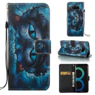 Plånboksfodral Samsung Galaxy S8 – Blå Katt