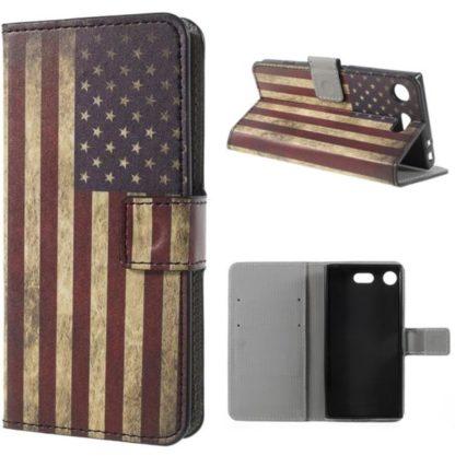 Plånboksfodral Sony Xperia XZ1 Compact - Flagga USA