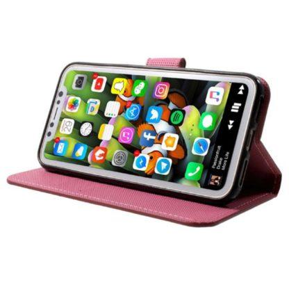 Plånboksfodral iPhone X / iPhone Xs - Vit med Fjärilar