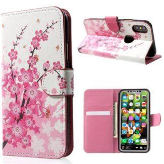 Plånboksfodral iPhone X / iPhone Xs - Körsbärsblommor