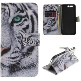 Plånboksfodral Huawei Honor 9 – Vit Tiger
