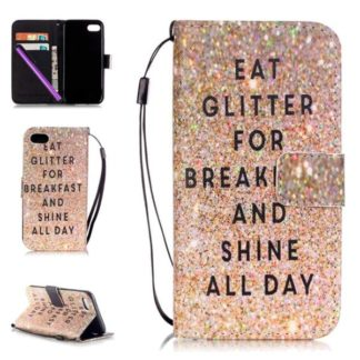 Plånboksfodral Apple iPhone 7 – Eat Glitter And Shine