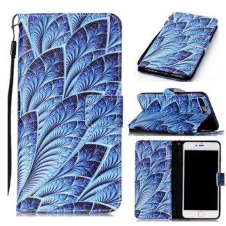 Plånboksfodral Apple iPhone 8 Plus – Blå Blomma