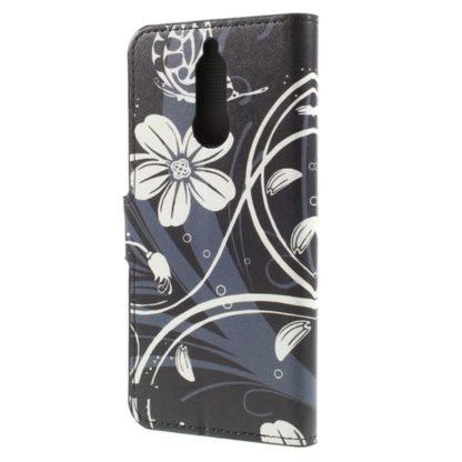 Plånboksfodral Huawei Mate 10 Lite – Svart med Blommor