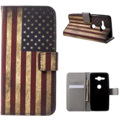 Plånboksfodral Sony Xperia XZ2 Compact - Flagga USA