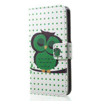 Plånboksfodral Sony Xperia XZ2 Compact - Prickigt med Uggla