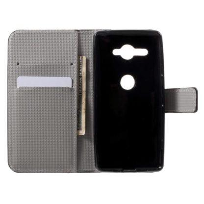 Plånboksfodral Sony Xperia XZ2 Compact - Blå Fjäril