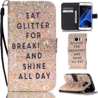 Plånboksfodral Samsung Galaxy S7 – Eat Glitter And Shine