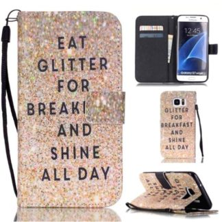 Plånboksfodral Samsung Galaxy S7 Edge – Eat Glitter And Shine