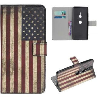 Plånboksfodral Sony Xperia XZ3 - Flagga USA