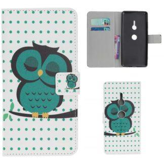 Plånboksfodral Sony Xperia XZ3 - Prickigt med Uggla