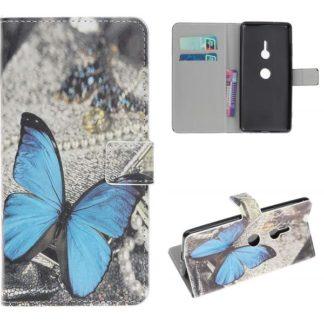 Plånboksfodral Sony Xperia XZ3 - Blå Fjäril