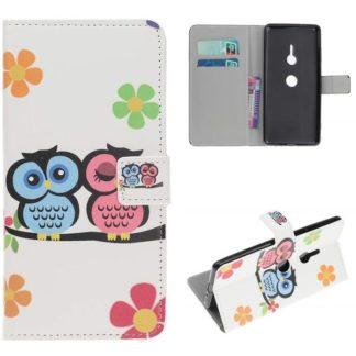 Plånboksfodral Sony Xperia XZ3 - Ugglor & Blommor