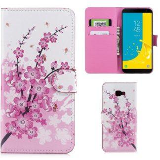 Plånboksfodral Samsung Galaxy J4 Plus - Körsbärsblommor