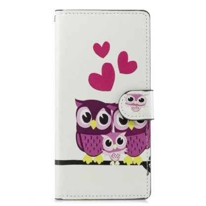 Plånboksfodral Sony Xperia XZ3 - Ugglor & Hjärtan