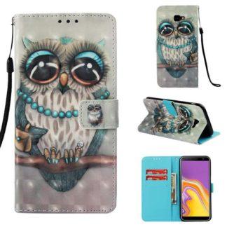 Plånboksfodral Samsung Galaxy J4 Plus – Utsmyckad Uggla