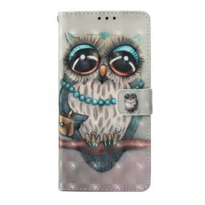 Plånboksfodral Samsung Galaxy S10 – Utsmyckad Uggla