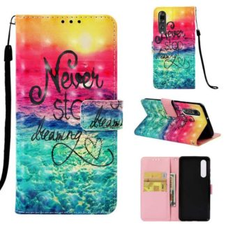 Plånboksfodral Huawei P30 – Never Stop Dreaming