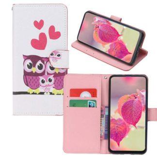 Plånboksfodral Samsung Galaxy A40 - Ugglor & Hjärtan