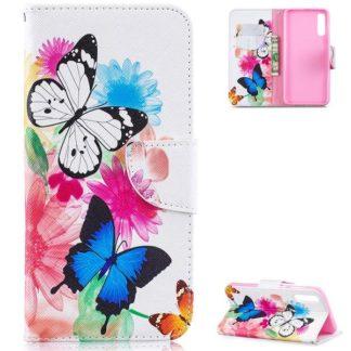 Plånboksfodral Samsung Galaxy A50 – Färgglada Fjärilar