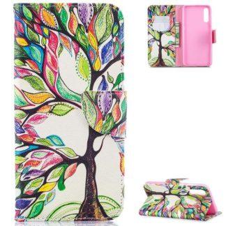 Plånboksfodral Samsung Galaxy A50 – Färgglatt Träd