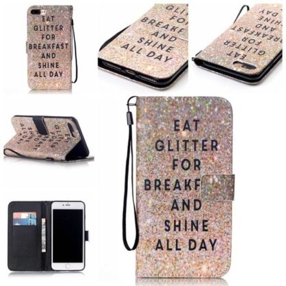 Plånboksfodral iPhone 6 Plus / 6s Plus – Eat Glitter And Shine