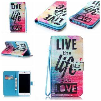 Plånboksfodral iPhone 6 Plus / 6s Plus - Live The Life You Love