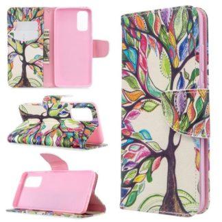Plånboksfodral Samsung Galaxy S20 – Färgglatt Träd