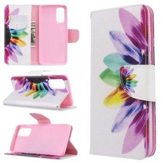 Plånboksfodral Samsung Galaxy S20 – Färgglad Blomma