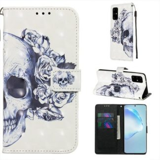 Plånboksfodral Samsung Galaxy S20 Plus – Döskalle / Rosor