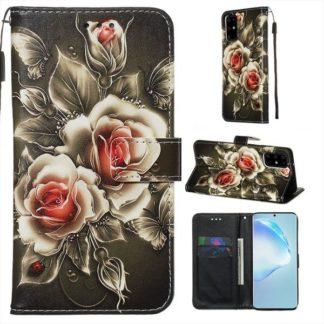 Plånboksfodral Samsung Galaxy S20 Plus – Rosor