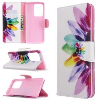 Plånboksfodral Samsung Galaxy S20 Ultra – Färgglad Blomma