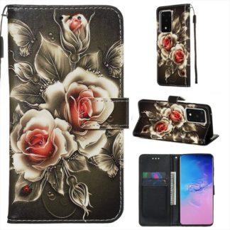 Plånboksfodral Samsung Galaxy S20 Ultra – Rosor