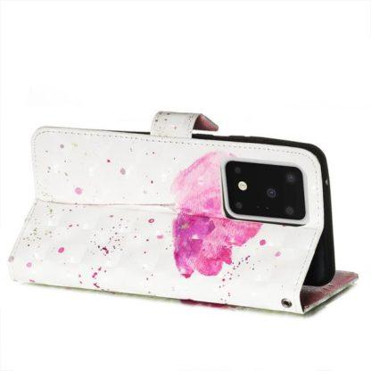 Plånboksfodral Samsung Galaxy S20 Ultra – Rosa Blomma
