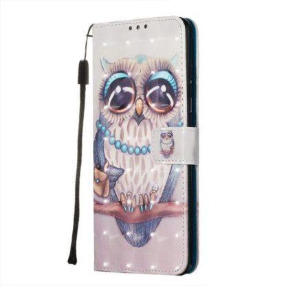 Plånboksfodral Samsung Galaxy S20 Ultra – Utsmyckad Uggla