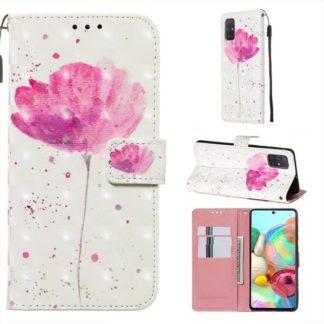 Plånboksfodral Samsung Galaxy A51 – Rosa Blomma