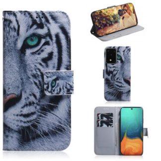 Plånboksfodral Samsung Galaxy S20 Ultra - Vit Tiger