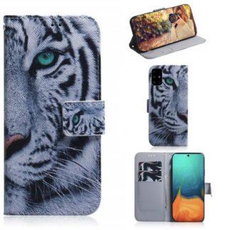 Plånboksfodral Samsung Galaxy A71 - Vit Tiger